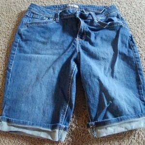 Pants - Earl Jean knee length denim shorts